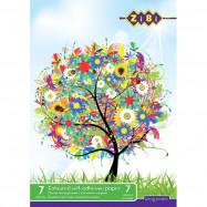 Бумага цветная А4,14л, 7 цветов офсет 70 г/м2, KIDS Line