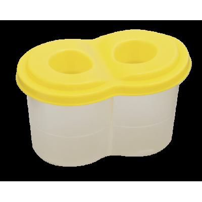 Стакан -непроливайка двойной, желтый