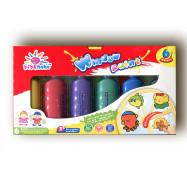 WP0622 Краска для стекла 6цв*22мл+ трафареты (для витража)