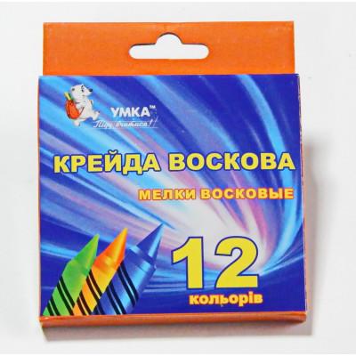н-р мелков, 12цв., воск., МЛ81, УМКА