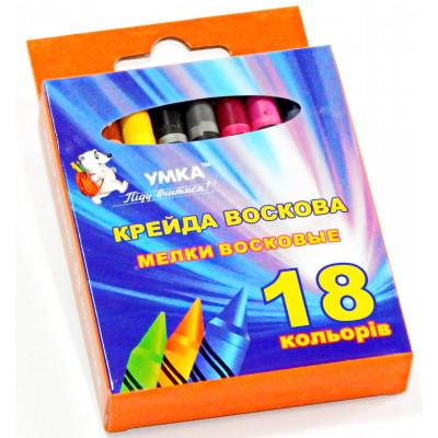 н-р мелков, 18цв., воск., МЛ82, УМКА