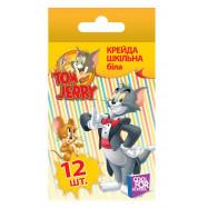 """Крейда """"Tom and Jerry"""". Шкільна біла. 12 шт"""