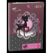 Папка для зошитів, картонна, на гумках В5+ (дівчинка)