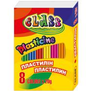 пластилин CLASS   8 цв.,160гр., 7622