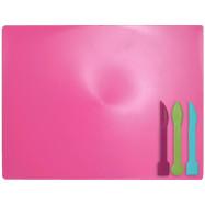 Дощечка для пластиліна, 3 стека, розовий