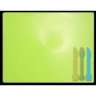 Дощечка для пластиліна, 3 стека, салатов