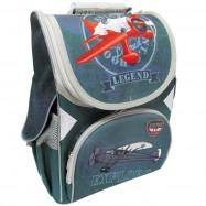 """JO-1518 Рюкзак коробка """"Літак"""" 13,5'' 3 отд., ортоп., світловід."""