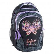 """ранец-рюкзак """"Butterfly"""", 2 отд., 43*33*19см,PL,черн.,9520,SAF"""