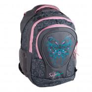 "ранец-рюкзак ""Butterfly"", 2 отд., 43*33*19см,PL,сер.,9519,SAF"