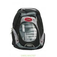 """ранец-рюкзак """"001"""", 2 отд., 42*29*19 см, PL ,черн.-сер.-зел.,9256,SAF"""