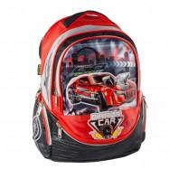 """ранец-рюкзак """"Crazy Car"""", 2 отд., 38*28*19cm ,PL & PVC Leather, красн.,9518, CLASS"""
