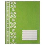 ФОН А5 12кос  POLISVIT Єко-1 (зелена) зошит учнівський