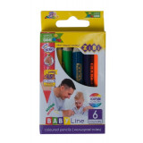 Карандаши цветные ZiBi 6цв. mini JUMBO