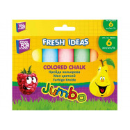 Мел цветной JUMBO 6 шт. в карт. упаковке с подвесом
