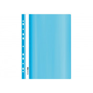 Папка-скоросшиватель А4 Economix с перф., глянець, пастель голубая