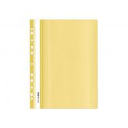 Папка-скоросшиватель А4 Economix с  перф., глянець, пастель желтая