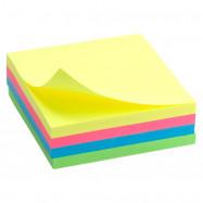 Блок бумаги с липким слоем 75x75мм, 250 л, неон. куб Delta by Axent