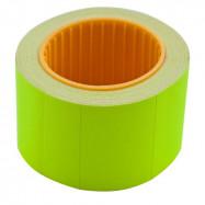 Цінник 35*25мм (240шт, 6м), прямокутний, зовнішня намотка, жовтий