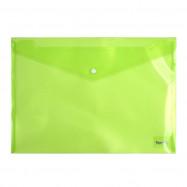 Папка на кнопке  А4, зеленая