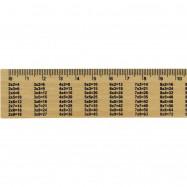 Линейка деревянная  таблица  умножения (шелкография) 150мм