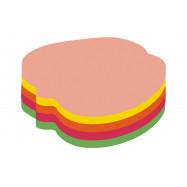 """Блок для нотаток з клейким шаром """"Яблуко"""" 45х50 мм Economix, 80 арк., неон мікс"""