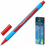 Ручка масляна SCHNEIDER SLIDER EDGE (товщина М-середня), пише червоним