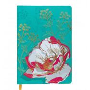 Блокнот деловий CHERIE А5, 96арк., клетка, обложка с искуственной кожи, бирюзовый