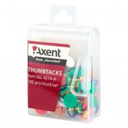 Кнопки цветные, 100 шт, пласт.покр, пласт.контейнер