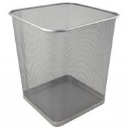 Корзина для паперу квадратна 270x300мм метал., срібляста