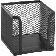 Куб для бумаги 100х100x100мм, металический, черный