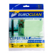 Салфетка  для стекла, микрофибра, BuroClean EuroStandart 30х30 см