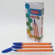 """Ручка масл. Goldex """"HEXO #1101 Индия Blue 0,6мм"""