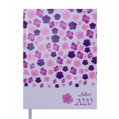 Ежедневник дат. 2020 ALLURE, A5, 336 стр, фиолетовый