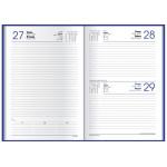 Ежедневник датированный 2020, Economix, MARBLE, темно-синий А5