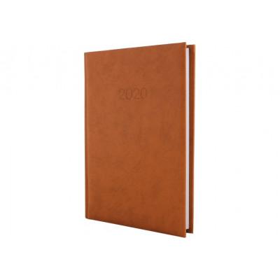 Ежедневник датированный ALGORA, коричневый, А5, 2020