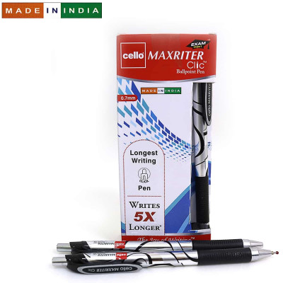 Ручка Cello Maxriter Clic SKU 12Box 0,7 мм черн