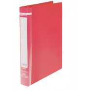 Папка пласт. с 2-мя кольцами, А4 (25мм), JOBMAX,красный