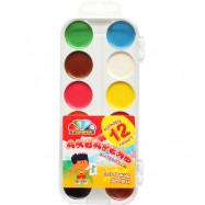 Краски акварельные 12цв б/кис пластик Захоплення