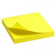 Блок бумаги с липким слоем 75x75мм,100 лист, ярко-жел Delta by Axent