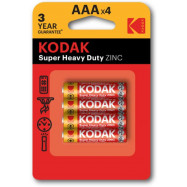 Батарейка KODAK EXTRA HEAVY DUTY R3 коробка 1x4 шт  LR03 миз.