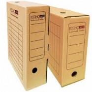 Бокс архивный картонный 100 мм Economix, коричневый