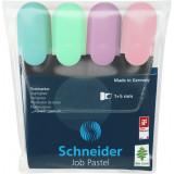 Набор текстовых маркеров SCHNEIDER JOB 150, 4 пастельные цвета в блистере