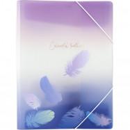 Папка на резинке А4+, Colourful Feather 03