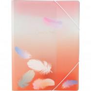 Папка на резинке А4+, Colourful Feather 04