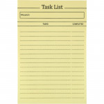 Блок бумаги с липким слоем Task list 100x150мм,100лист