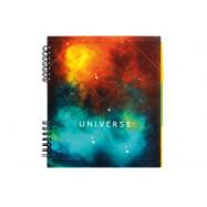 """Блокнот """"Universe""""  разделителями B5, пластиковая  обл, евроспираль, 120 л"""