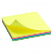 Блок бумаги с липким слоем 75x75мм, 100лист, неон, разн.цв. Delta by Axent