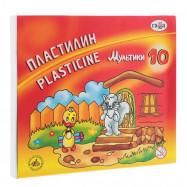 """Пластилин """"Мультики"""", кор, стек, 200 г, 10 цв, Гамма Р"""